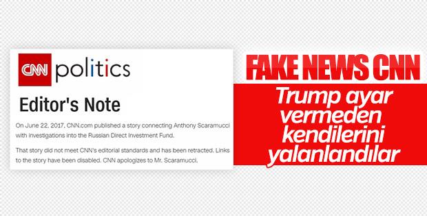CNN Trump haberini yayından kaldırdı