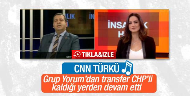 CHP'li vekil CNN Türk'te türkü söyledi