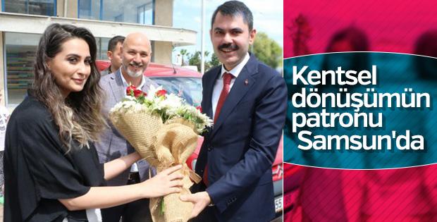 Bakan Kurum Samsun'daki kentsel dönüşümü inceledi