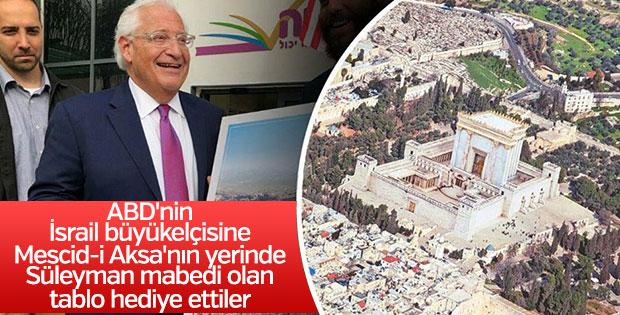 Fotoshoplu tablo: İsrail Mescid'i Aksa'yı yıkıp Süleyman Mabedini inşa etti