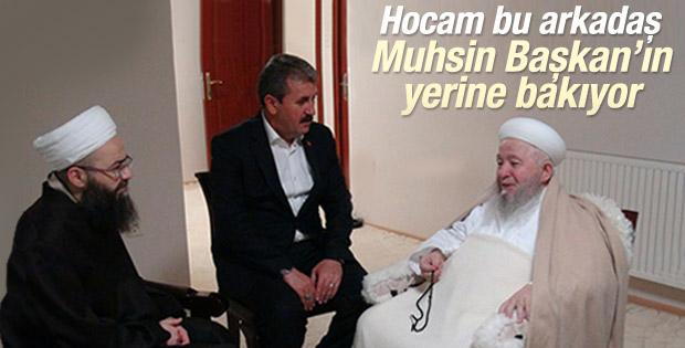 Mustafa Destici Mahmut Ustaosmanoğlu'nu ziyaret etti