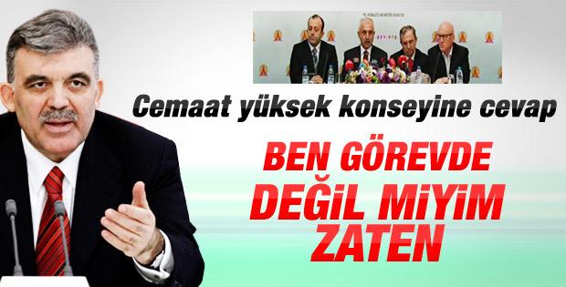Cumhurbaşkanı Gül'den GYV'ye cevap - izle