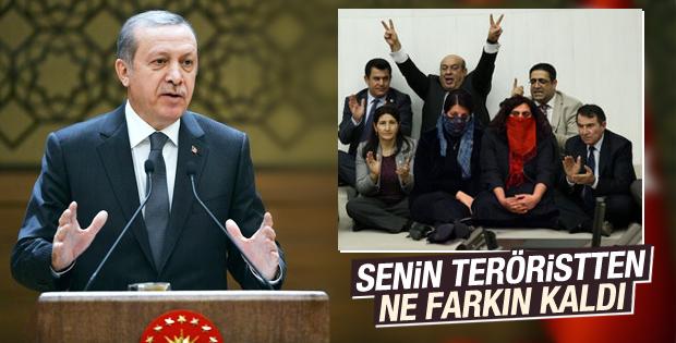 Erdoğan maske takan HDP'li vekilleri eleştirdi