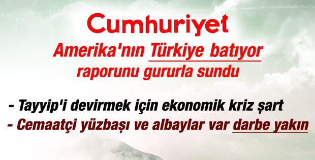 Cumhuriyet yazarı ABD'nin Türkiye hesaplarını yazdı