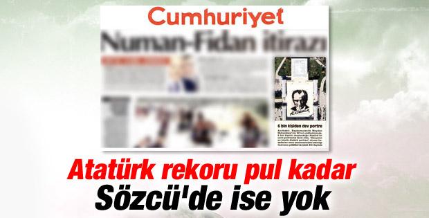 Cumhuriyet Atatürk rekorunu küçük gördü