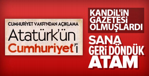 Cumhuriyet Gazetesi yayın çizgisini değiştirdi