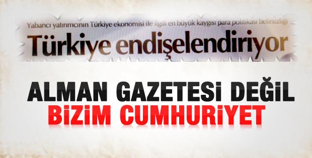 Cumhuriyet'in şaşırtan başlığı: Türkiye endişelendiriyor