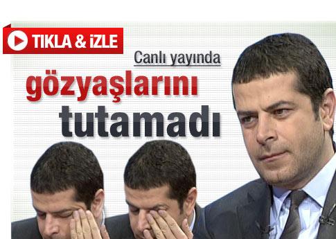 Cüneyt Özdemir canlı yayında ağladı