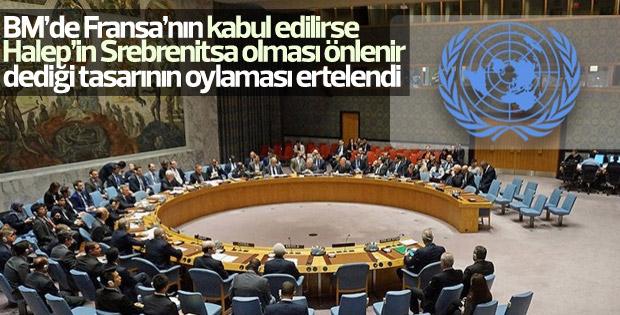 BMGK'da Halep tasarısının oylaması ertelendi