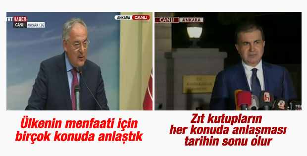 Haluk Koç ve Ömer Çelik'in koalisyon açıklamaları