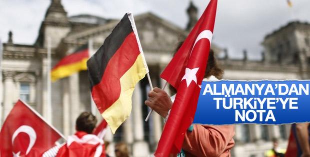Almanya Türkiye'ye nota verdi