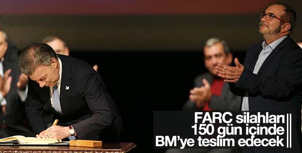 FARC silahları teslim ediyor
