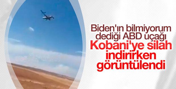 YPG'ye yardım yapan ABD uçakları görüntülendi