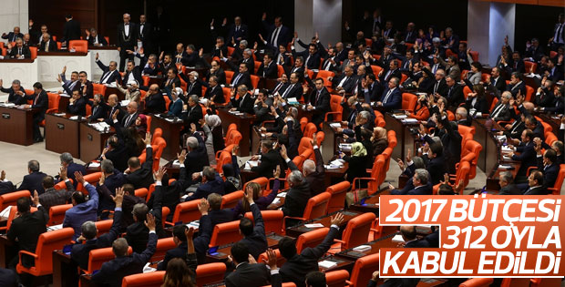 Meclis'te 2017 bütçesi kabul edildi