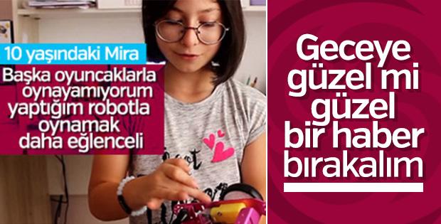10 yaşındaki Mira robot geliştirdi