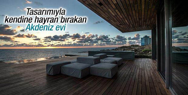 Tasarımıyla kendine hayran bırakan Akdeniz evi
