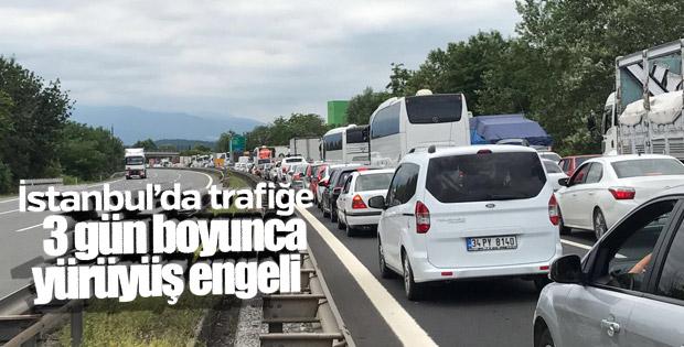 İstanbul'da yürüyüş dolayısıyla trafiğe kapatılacak yollar