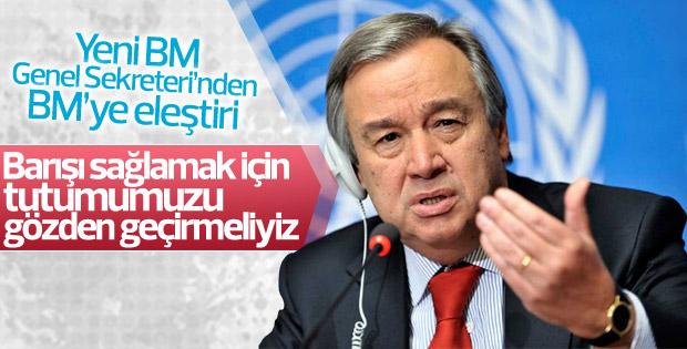 BM Genel Sekreteri Guterres BM'yi eleştirdi