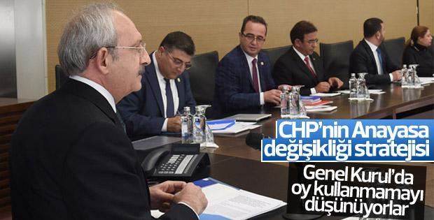 CHP'de Anayasa değişikliği teklifini tartışma toplantısı