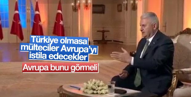 Başbakan Yıldırım'dan Avrupa'ya mülteci mesajı