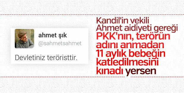 Ahmet Şık terör örgütü PKK'yı kınayamadı