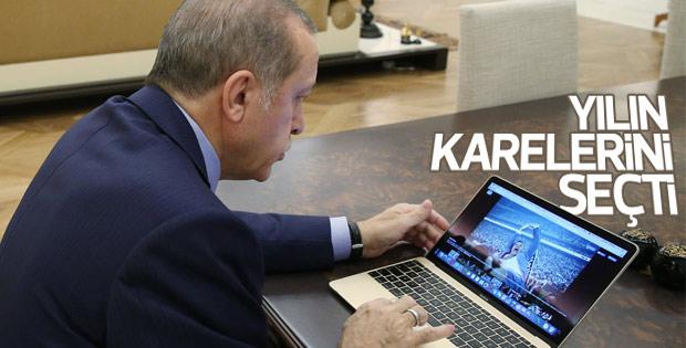 Cumhurbaşkanı Erdoğan yılın fotoğraflarını seçti