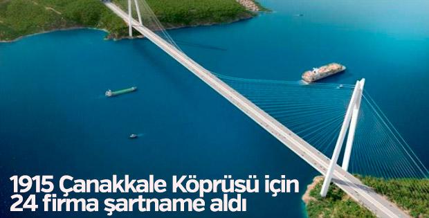 1915 Çanakkale Köprüsü için 24 firma şartname aldı