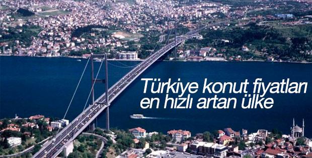 Türkiye konut fiyatları en hızlı artan ülke oldu