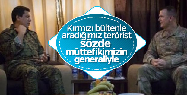 ABD komutanı Türkiye'nin aradığı teröristle buluştu