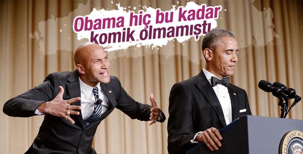Obama Beyaz Saray muhabirlerine yemek verdi