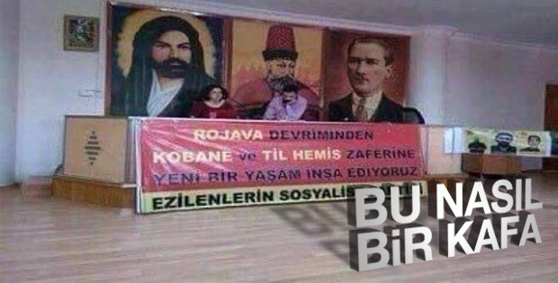 Hz.Ali'li Hacı Bektaş-ı Veli'li Atatürk'lü PKK propagandası