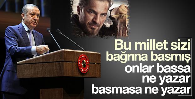 Cumhurbaşkanı Erdoğan Diriliş Ertuğrul'a sahip çıktı