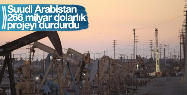Suudi Arabistan 266 milyar dolarlık sözleşmeleri durdurdu