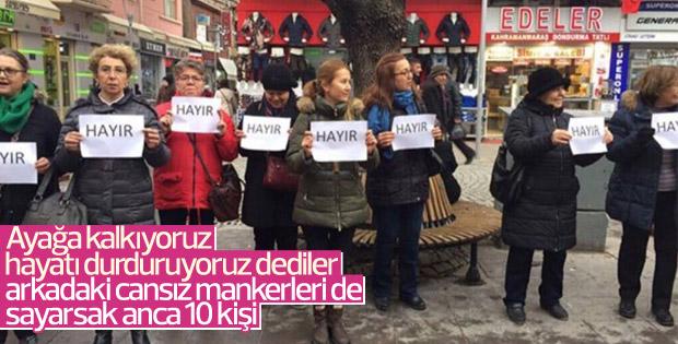 CHP'lilerin 'Ayağa Kalkıyoruz' eylemi