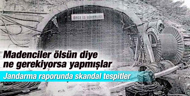 Jandarmadan maden ocağıyla ilgili skandal tespitler