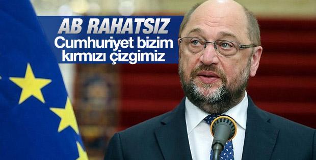 Schulz'dan Cumhuriyet gazetesi açıklaması