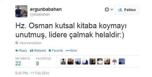 Ünlü gazeteciden Kur'an'a ve Hz. Osman'a hakaret