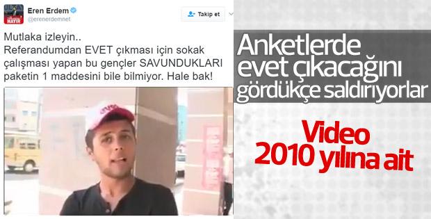 2010 yılına ait görüntülerle 'Hayır' propagandası