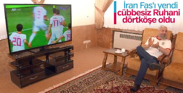 Ruhani, galibiyetin keyfini böyle çıkardı