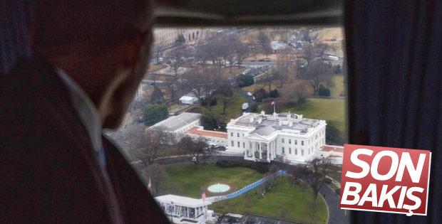 Obama Beyaz Saray'dan ayrıldı