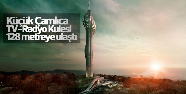 Küçük Çamlıca TV- Radyo Kulesi'nin inşası sürüyor