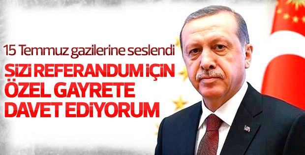 Cumhurbaşkanı Erdoğan 15 Temmuz gazilerine hitap etti