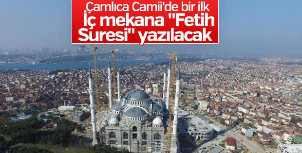 Çamlıca Camii inşaatında bir ilk