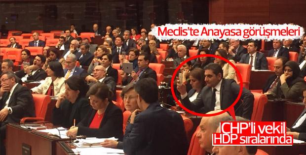CHP'li Erdoğdu HDP sıralarında oturdu