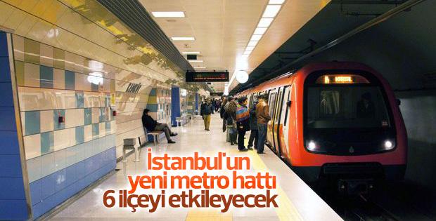 İstanbul'un yeni metro hattı 6 ilçeyi etkileyecek