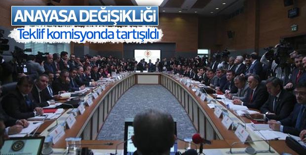 Anayasa değişikliği teklifi komisyonda