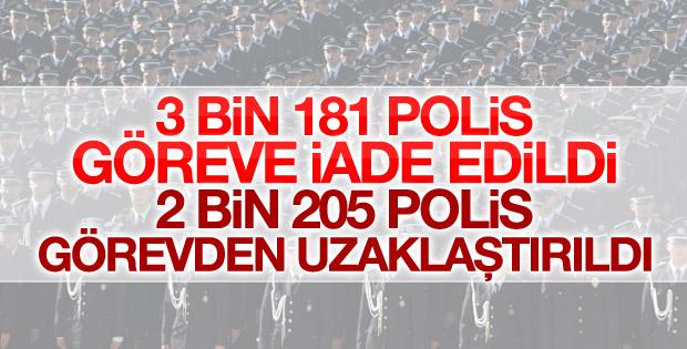 3 bin 181 emniyet mensubu göreve iade edildi
