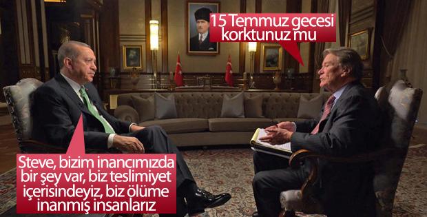 Cumhurbaşkanı Erdoğan Amerikan CBS kanalına konuştu