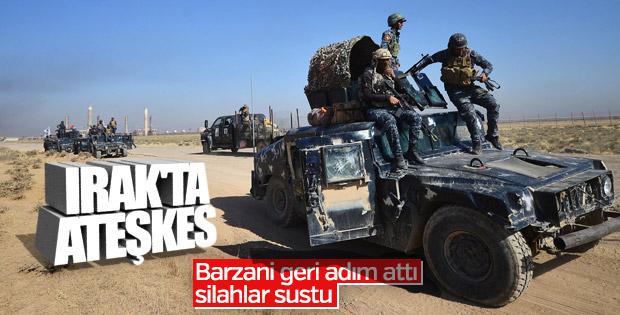 Irak Ordusu ve Peşmerge ateşkes konusunda anlaştı