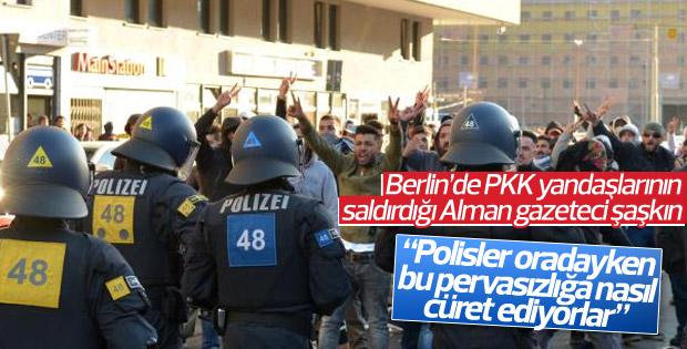 PKK yandaşları Alman gazeteciye saldırdı